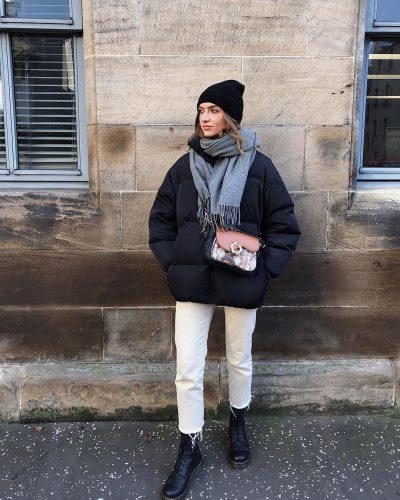 Cómo llevar pantalones blancos en invierno 2