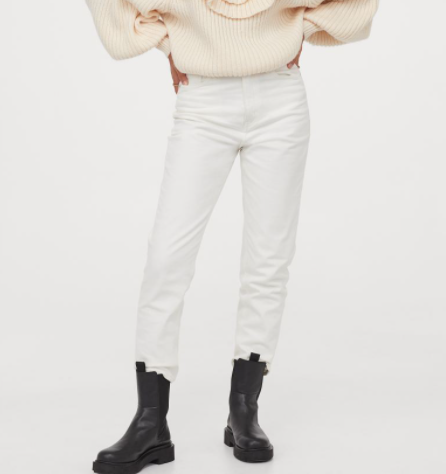 Cómo llevar pantalones blancos en invierno 6