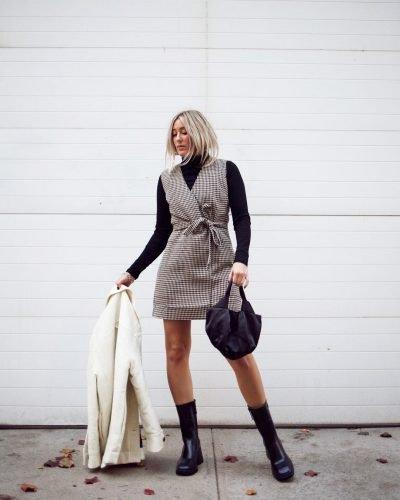 Cómo combinar jerséis de cuello alto como las influencers
