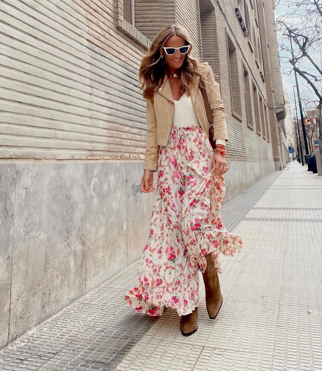 Vestidos y faldas de flores: el must-have de primavera