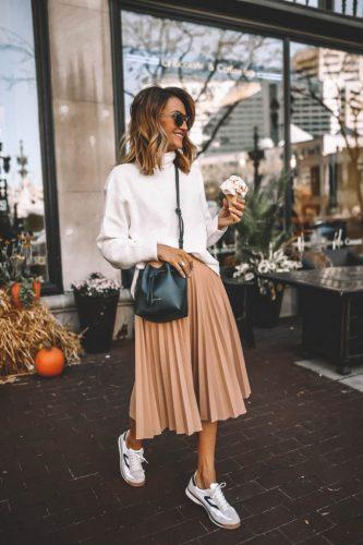 Cómo combinar tus faldas plisadas en tus looks de invierno