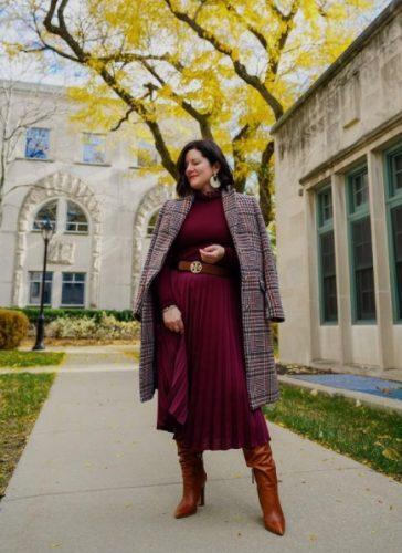 Cómo combinar tus faldas plisadas en tus looks de invierno foto 2