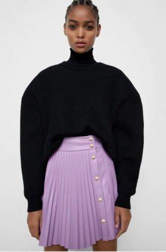 Cómo combinar tus faldas plisadas en tus looks de invierno foto 7